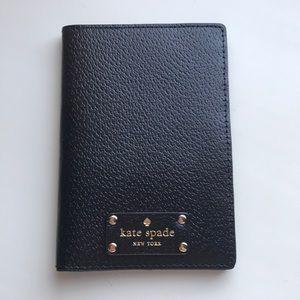 NWOT Kate Spade Passport Holder in Black